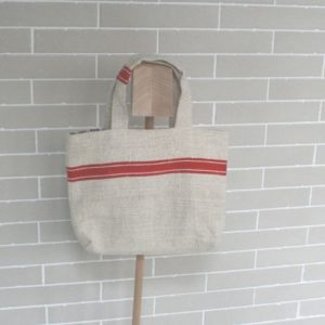 little tote bag Suzanne in old hemp fabric