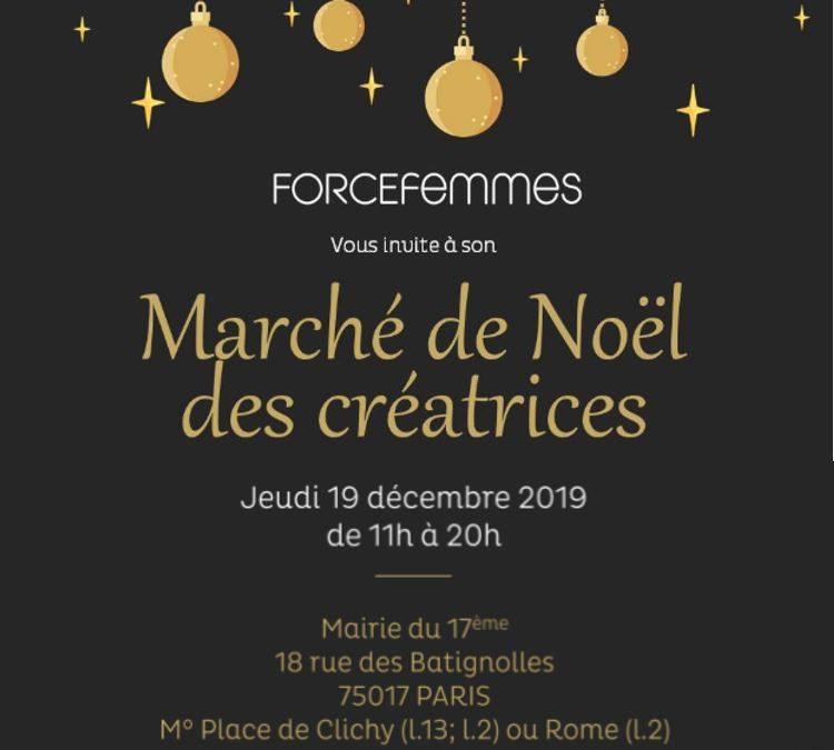 Marché de Noël des créatrices de Force Femmes 2019