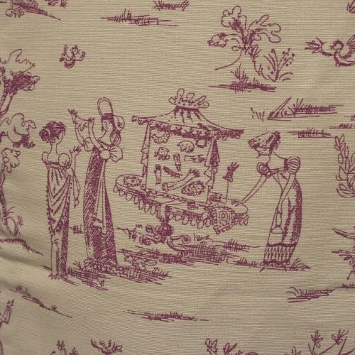 tote bag Empire toile de jouy violet rare lilimargotton ecoresponsable