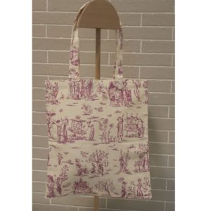tote bag Empire toile de jouy violet rare lilimargotton ecoresponsable