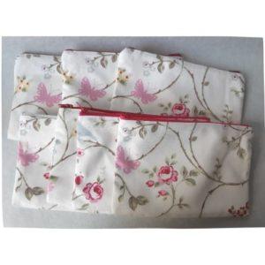 lilimargotton trousse olga coton chiné france jardin champêtre bucolique alternative au plastique recyclage textile
