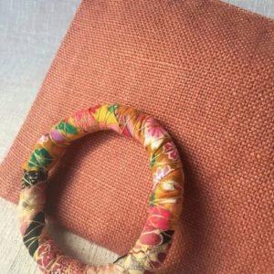 trousse saumon lin et bracelet