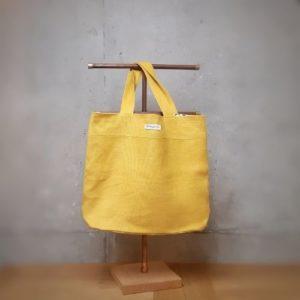 cabas madeleine lilimargotton lin jaune mais coton leopard eshop accessoires ecoresponsable 001