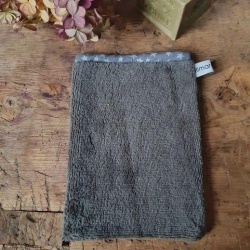 gant eponge de bambou lilimargotton gris anthracite