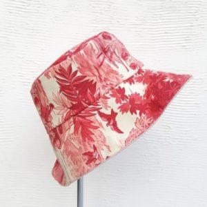 bob charles toile de jouy rose rouge et lin rose poudré lilimargotton