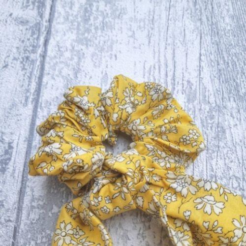 chouchou foulard liberty jaune